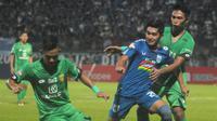 Bhayangkara FC berhasil mengalahkan PSIS Semarang di Stadion Moch. Soebroto, Magelang dengan skor 3-2 pada lanjutan Shopee Liga 1 2019. (Bola.com/Vincentius Atmaja)