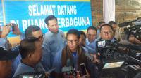 Sandiaga Uno menanggapi kasus surat suara Pilpres 2019 yang tercoblos di Malaysia (Liputan6.com / Nefri Inge)