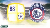 Logo Barito Putera dan Arema FC (Bola.com/Adreanus Titus)