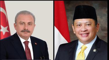 Ketua MPR, Bambang Soesatyo menelepon Ketua Majelis Agung Turki, Mustafa Sentop. Melalui sambungan telepon pada 17 Mei 2017 malam waktu Indonesia. (KBRI Ankara)
