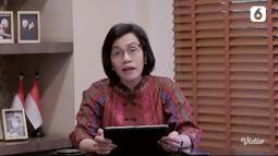Menteri Keuangan Sri Mulyani Indrawati membacakan puisi sebagai Tokoh Perempuan Inspiratif pada acara Anugerah Perempuan Hebat 2021 yang digelar secara daring. (Liputan6.com)