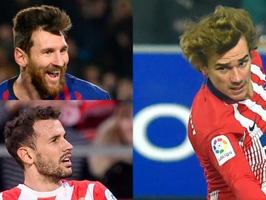 Tambahan satu gold an satu assist Lionel Messi ke gawang Leganes semakin menegaskan Lionel Messi sebagai pencetak gol terbanyak La Liga sejak awal musim. Saat ini Lionel Messi sudah mencetak 18 gol dan 10 assist. (Kolase Foto AFP)