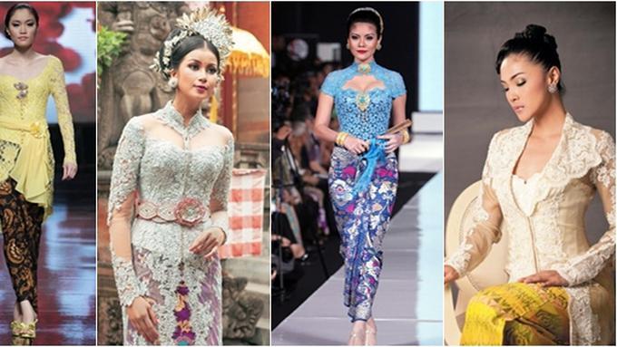 4 Model Kebaya Renda Kerah Modern Beauty Fimela Com