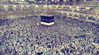 Jemaah haji di masjidil haram, Makkah. (Liputan6.com/Muhammad Ali)