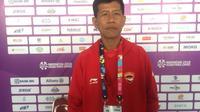 Pelatih catur tim Indonesia di Asian Para Games 2018, Sri Martono. (Bola.com/Benediktus Gerendo Pradigdo)