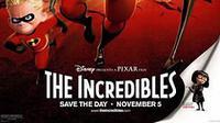 The Incredibles merupakan film animasi-superhero yang disutradarai oleh Brad Bird. (Pixar)