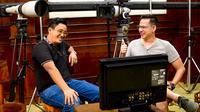 Youtuber Ian Wibowo dan Aktor Ari Wibowo saat di Lokasi Syuting di Astagina Resort Bali.