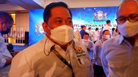 Ketua Kadin Sulawesi Tenggara Anton Timbang dan Ketum kadin Indonesia Rosan P Roeslani.(Liputan6.com/istimewa)