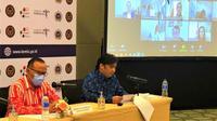 Direktur KSIA Aspasaf, Andre Omer Siregar (kanan) didamping Direktur Hubungan Antarlembaga Kementerian Pariwisata, Chandra Negara memimpin pertemuan daring ACD 2020. (Photo credit: Kementerian Luar Negeri RI)