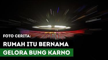 """Berita video foto-foto bercerita yang berjudul """"Rumah Itu Bernama Gelora Bung Karno""""."""