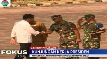 Jokowi kemudian rapat terbatas dengan Muspida dan para menteri untuk mendengar laporan langsung progres rehabilitasi pasca gempa.
