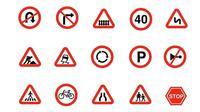 logo rambu-rambu lalu lintas.(Creative Market)
