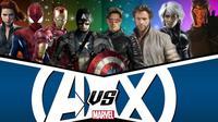 Ilustrasi film Avengers, Spider-Man, dan X-Men yang diadaptasi dari Marvel Comics. (cosmicbooknews.com / Marvel Studios / Sony / 20th Century Fox)
