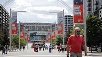 Pada gelaran Euro 2020 (Euro 2021), Stadion ini akan menyelenggarakan lima kali pertandingan, dengan rincian, tiga pertandingan di Grup D, satu kali fase semi final, dan perebutan juara di partai final. (Foto: AFP/ Tolga Akmen)