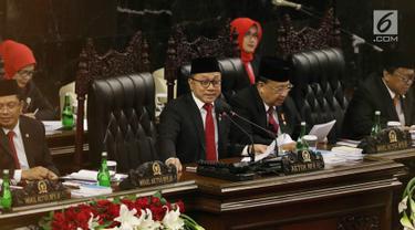 PHOTO: Pidato Ketua MPR Zulkifli Hasan salam Sidang Tahunan MPR RI 2017