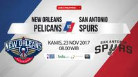 New Orleans Pelicans Vs San Antonio Spurs (Bola.com/Adreanus Titus)