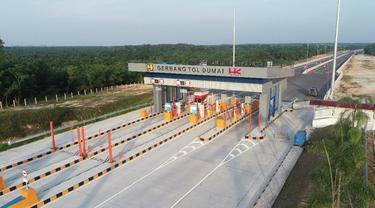Tol Pekanbaru-Dumai sepanjang 131 km. (Dok Hutama Karya)