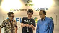 Infinys meluncurkan solusi cloud computing CloudKilat di Jakarta, Kamis (6/9/2018). Liputan6.com/Jeko I.R.