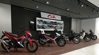 Ruang tamu Kantor Honda R&D Ltd. Motorcycle R&D Center, Asaka, Saitama Prefecture, Jepang.(Arthur/Liputan6.com)