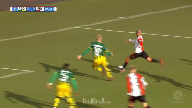 Berita video highlights Eredivisie 2017-2018 antara ADO Den Haag melawan Feyenoord dengan skor 2-2. This video presented by BallBall.
