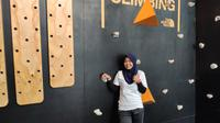 Puji Lestari hadiri Global Climbing Day (ist)
