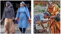 Potret Kebersamaan Dua Umat Beda Agama Ini Bikin Adem Banget
