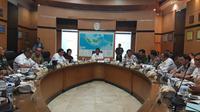 Menko Polhukam Wiranto Saat Memimpin Rapat Persiapan Pelantikan Presiden dan Wakil Presiden Terpilih di Kantor Kementerian Koordinator Polhukam, Jakarta, Senin (30/9/2019).
