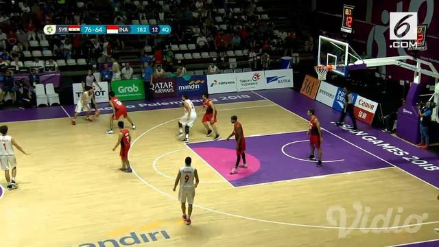 Tim bola basket pria Indonesia harus bertekuk lutut dari Suriah dengan skor 66-76 pada play-off perebutan tempat kelima Asian Games 2018.