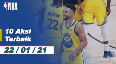 Berita video 10 aksi terbaik NBA pada Jumat (22/1/21). Salah satunya ada aksi dari LeBron James.