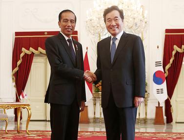 Jokowi Sambut Kehadiran Perdana Menteri Korea Selatan Lee Nak-yeon