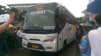 Menteri Perhubungan Budi Karya Soemadi, cek langsung operasional terbaru Damri, rute Cikupa Kabupaten Tangerang, menuju Bandara Internasional Soekarno Hatta, Minggu (3/3/2019).