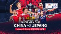 Final Piala Sudirman 2021 : China vs Jepang