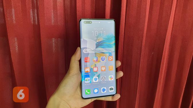 Tampilan layar Huawei Mate 40 Pro (Liputan6.com/ Agustin Setyo W)