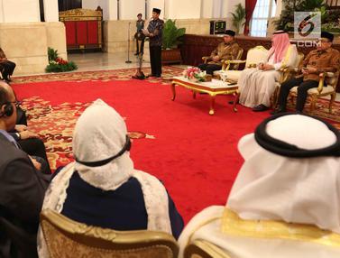 Jokowi Bersama Pangeran Arab Saudi Terima Penghafal Alquran di Istana