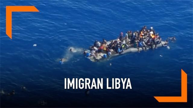 Penjaga pantai Jerman merilis video yang memperlihatkan sebuah kapal yang dipenuhi Imigran dari Libya tenggelam. Imigran kapal tenggelam berhasil diselamatkan oleh pihak Libya.