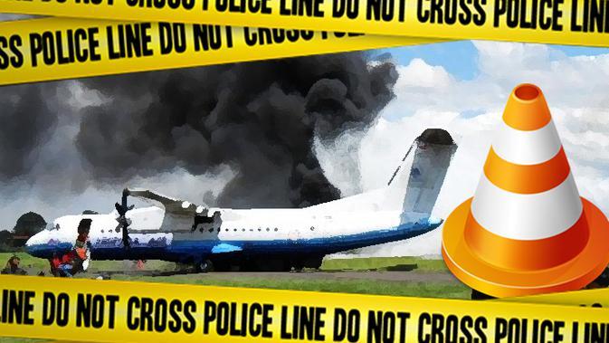 Ilustrasi Kecelakaan Pesawat (Liputan6.com/Johan Fatzry)