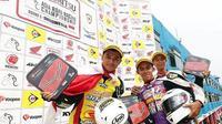 Md Haziq dari tim UMA Racing Yamaha asal Malaysia juara kelas Underbone 150cc Asia Road Racing Championship 2018 di Sirkuit Sentul, Bogor, Jawa Barat, Minggu (14/10/2018). (instagram.com/asiaroadracing)
