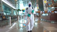 Bandara Internasional Soekarno-Hatta (Soetta) dinobatkan sebagai salah satu bandara di dunia dengan rating tertinggi dalam penerapan protokol kesehatan. (Dok AP II)