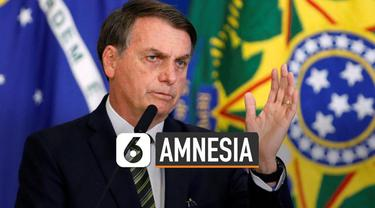 Presiden Brasil, Jair Bolsonaro jatuh di kamar mandi kediaman kepresidenan.