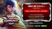 Streaming Vidio Community Cup Season 4 : Free Fire Series 4 di Vidio. (Sumber : dok. vidio.com)