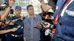 Nazaruddin menjalani pemeriksaan lanjutan sebagai saksi berkaitan dengan kasus Wisma Atlet, Jakarta, (9/10/14). (Liputan6.com/Miftahul Hayat)