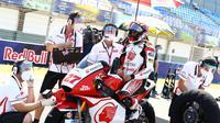 Andi Gilang jelang start lomba Moto2 Jerez, Minggu (20/7/2020). (Istimewa)