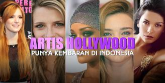 Artis Hollywood Punya Kembaran di Indonesia
