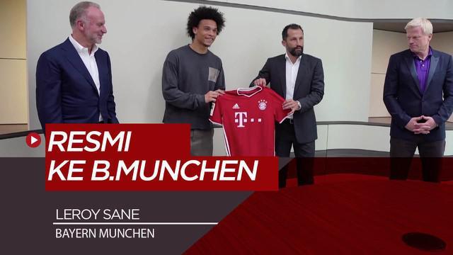 Berita Video Tinggalkan Manchester CIty, Leroy Sane Resmi Berseragam Bayern Munchen