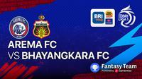 BRI Liga 1 Arema FC vs Bhayangkara FC (Minggu, 12/9/2021)