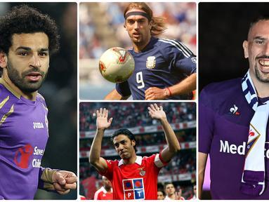 Bintang Bayern Munchen, Franck Ribery, resmi bergabung dengan Fiorentina, pemain sayap ini menjadi salah satu bintang top yang menorehkan namanya bersama skuat La Viola. Berikut Franck Ribery dan 6 bintang top lainnya yang pernah membela Fiorentina. (Kolase foto AFP)