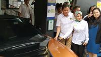 PT Pertamina (Persero) resmi mengoperasikan Green Energy Station (GES) di SPBU COCO Pertamina 31.12.902,  Kuningan, Jakarta (10/12/2018).