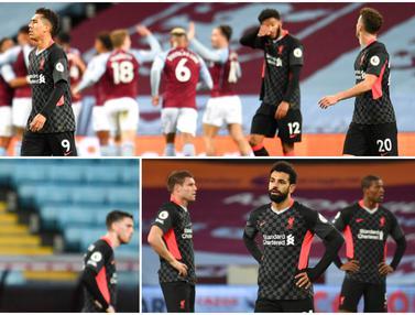 Reaksi Beragam Pemain Liverpool Usai Tak Berdaya di Markas Aston Villa