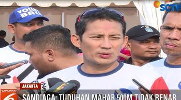 Sandi menegaskan tudingan Andi Arief sebagai dinamika politik biasa jelang pilpres.