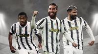 Sergio Ramos, Sergio Aguero dan David Alaba. (Bola.com/Dody Iryawan)